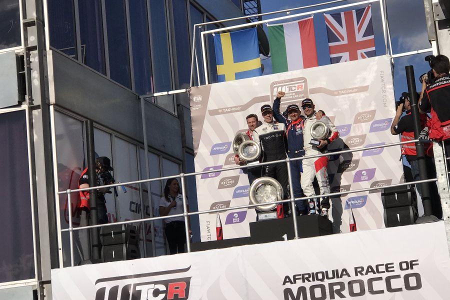 WTCR Marrakech race 1 podium