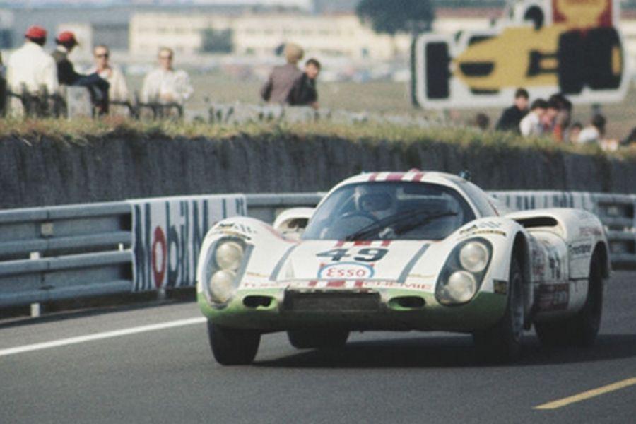 Walter Brun's #49 Porsche at 1971 Le Mans 24 Hours