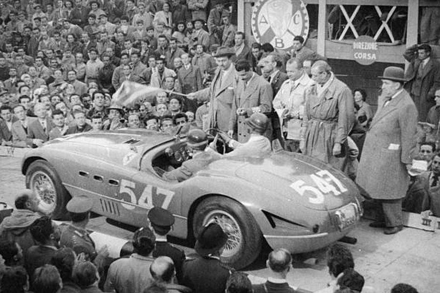 Giannino Marzotto's #547 Ferrari at 1953 Mille Miglia