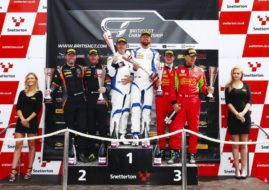 British GT Snetterton race 1 podium