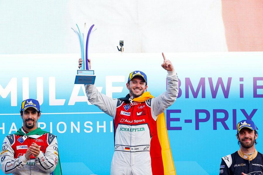 Berlin ePrix podium