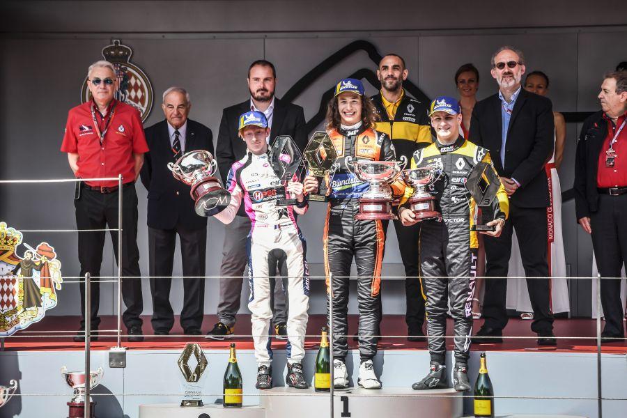 Formula Renault Monaco race 1 podium