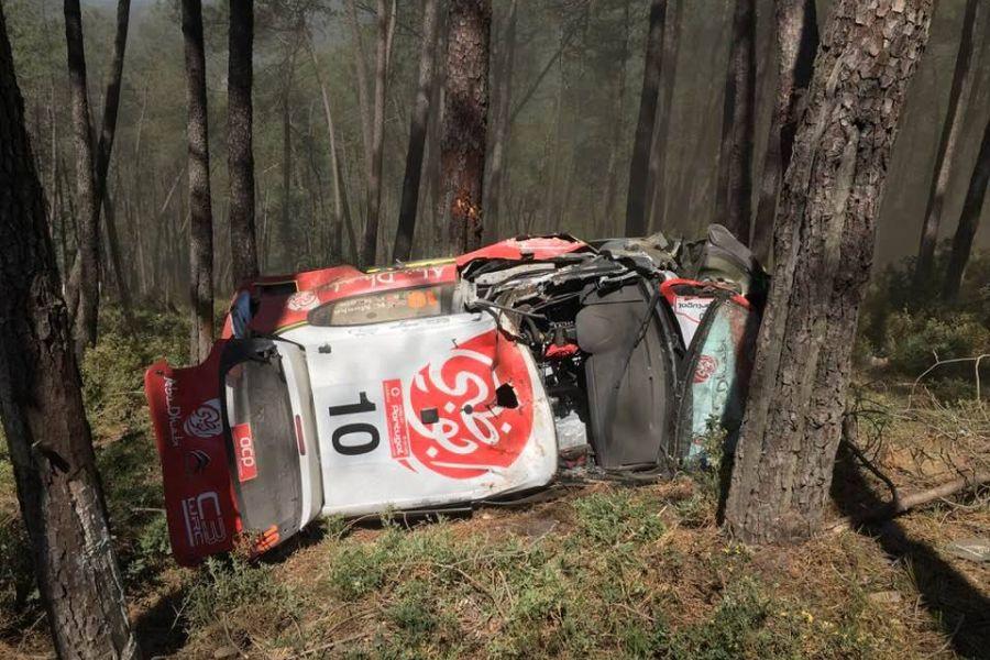 Kris Meeke crash Rally Portugal
