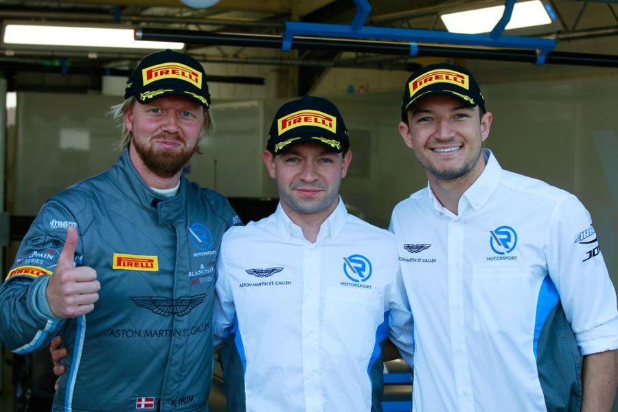 Race-winning trio: Nicki Thiim, Matthieu Vaxiviere and Jake Dennis