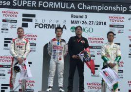 Super Formula Sugo podium