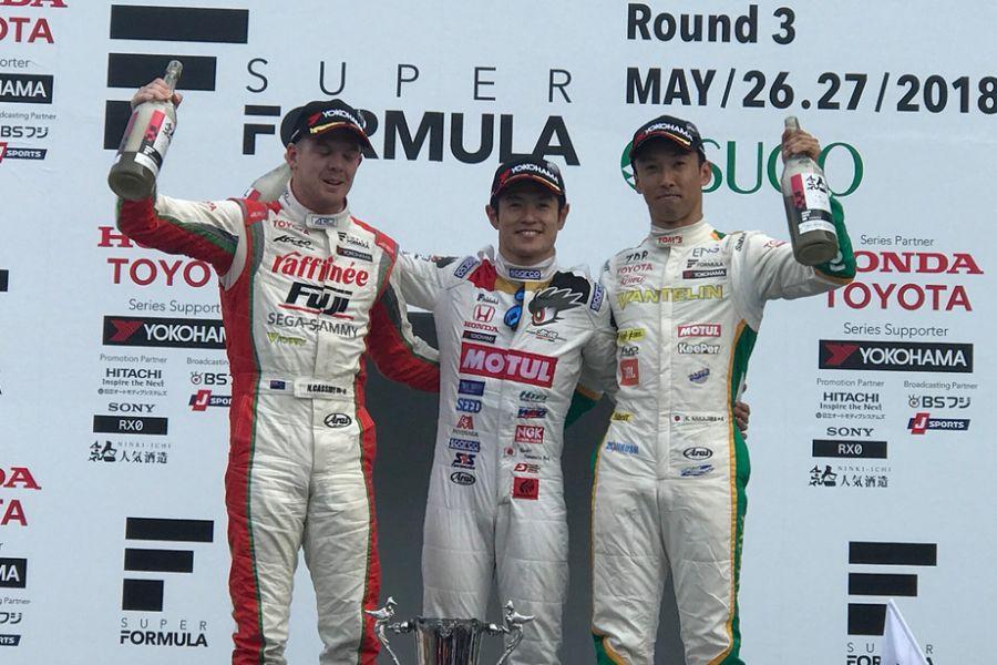 Super Formula Sugo podium 2