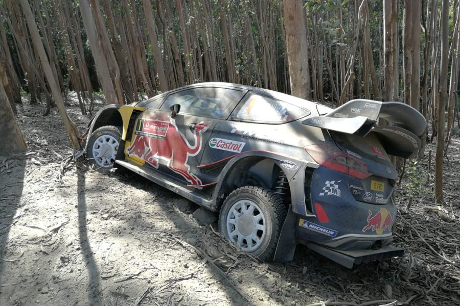 2018 Rally de Portugal, Sebastien Ogier crash