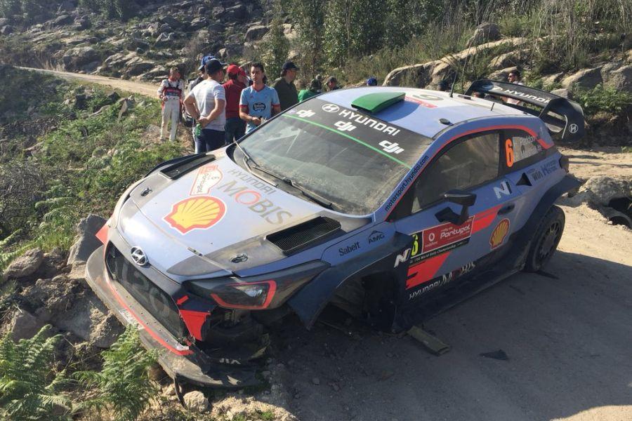 2018 Rally de Portugal, Hayden Paddon crash