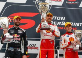 Winton SuperSprint race 2 podium