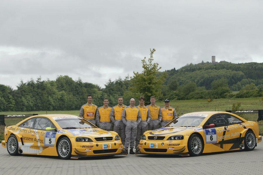 Opel's team at 24 Hours of Nurburgring in 2003