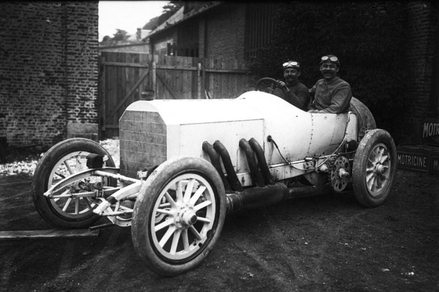 Christian Lautenschlager was the winner of the French Grand Prix in 1908 and 1914