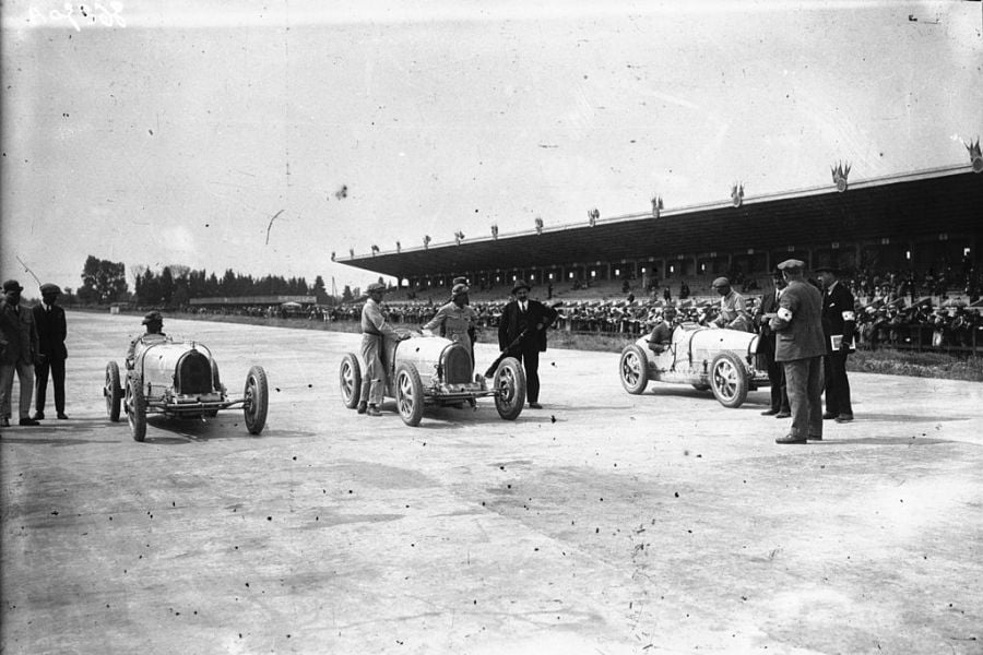 Poor starting grid at the 1926 French Grand Prix