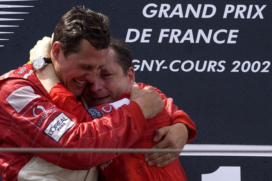 Michael Schumacher and Jean Todt at 2002 French Grand Prix