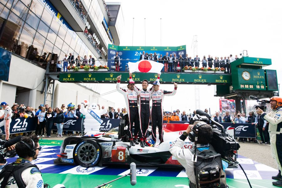 Sebastien Buemi, Kazuki Nakajima, Fernando Alonso TOYOTA GAZOO Racing. Le Mans 24 Hours Race, 11th to 17th June 2018 Circuit de la Sarthe, Le Mans, France.