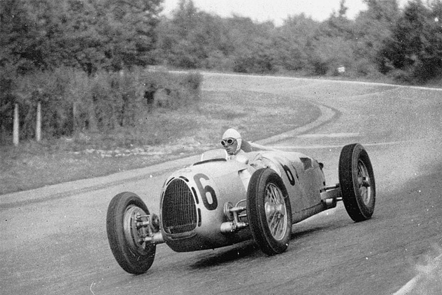 Achille Varzi raced with Auto Union from 1935 to 1937