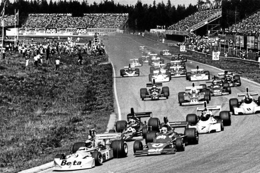Start of the 1975 Swedish Grand Prix