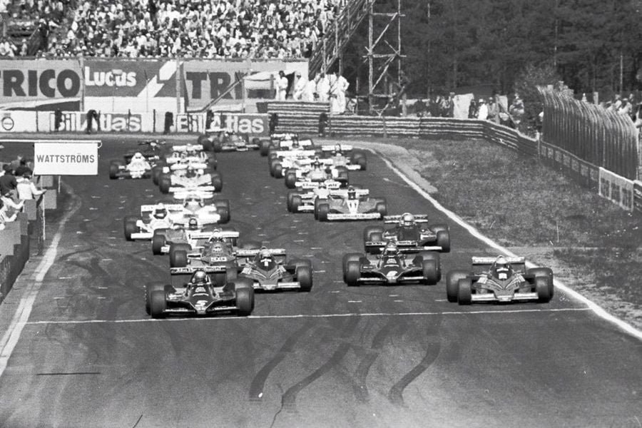 Start of the 1978 Swedish Grand Prix