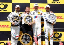 DTM Hungaroring, race 2 podium, Timo Glock, Marco Wittmann, Philipp Eng