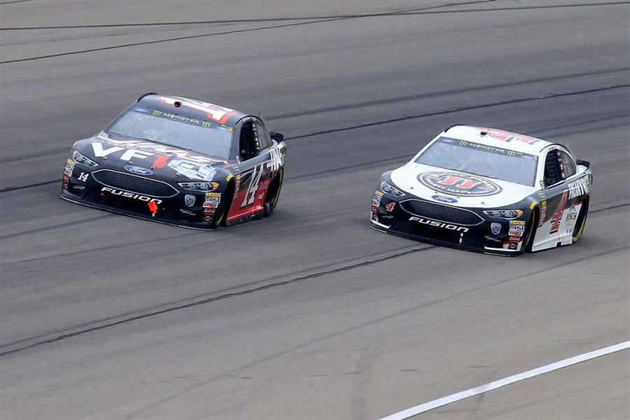 Clin Bowyer and Kevin Harvick