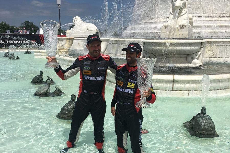 Refreshing and celebration for Eric Curran and Felipe Nasr