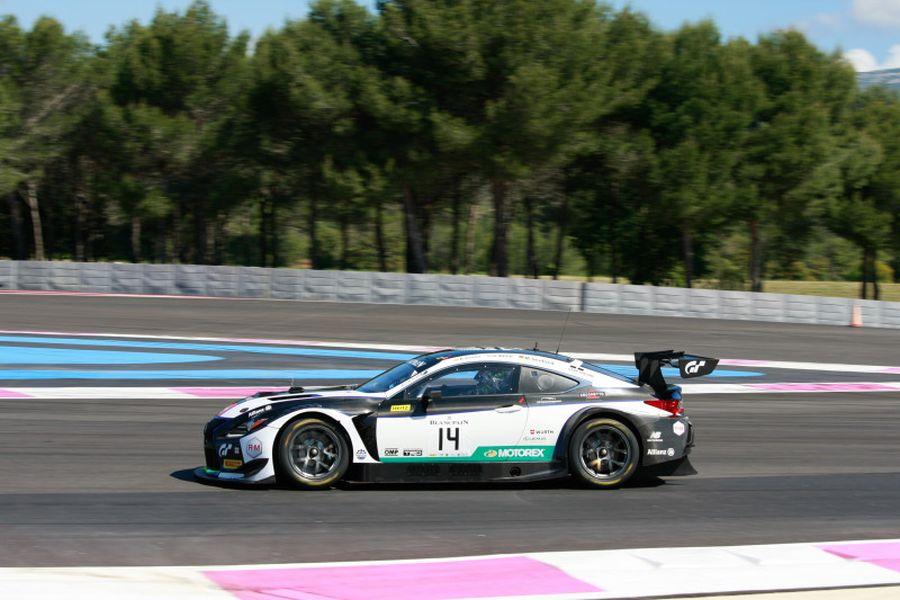 #14 Lexus RC F GT3 - victorious car at Circuit Paul Ricard