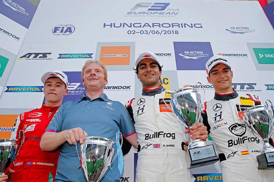 Formula 3 Europe, Hungaroring, race 2 podium