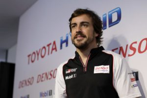 Fernando Alonso Toyota Le Mans 24h official test