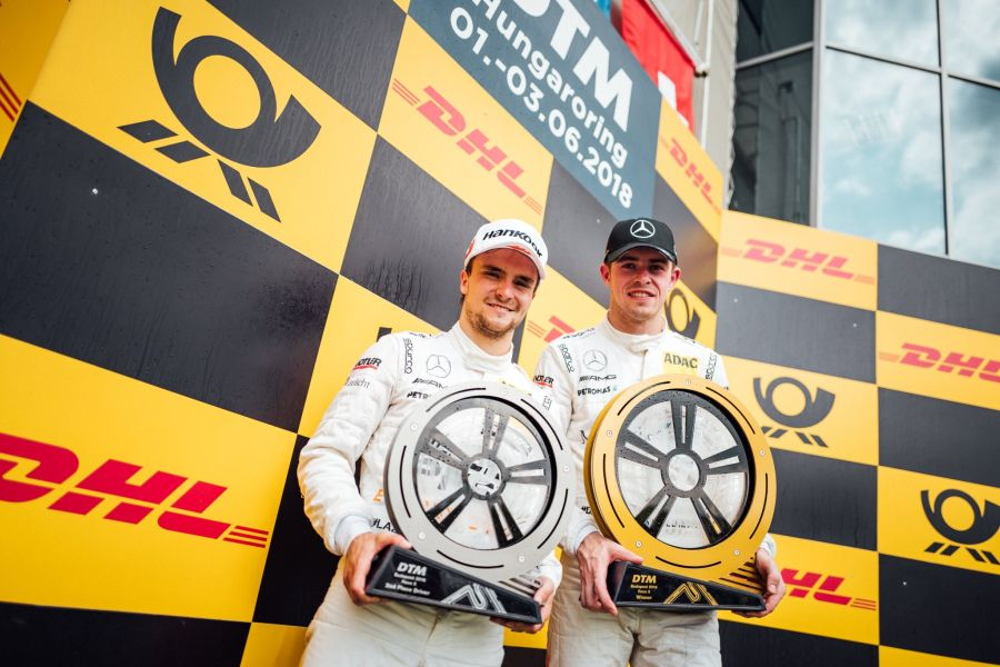 DTM, Hungaroring, Mercedes: Lucas Auer and Paul di Resta