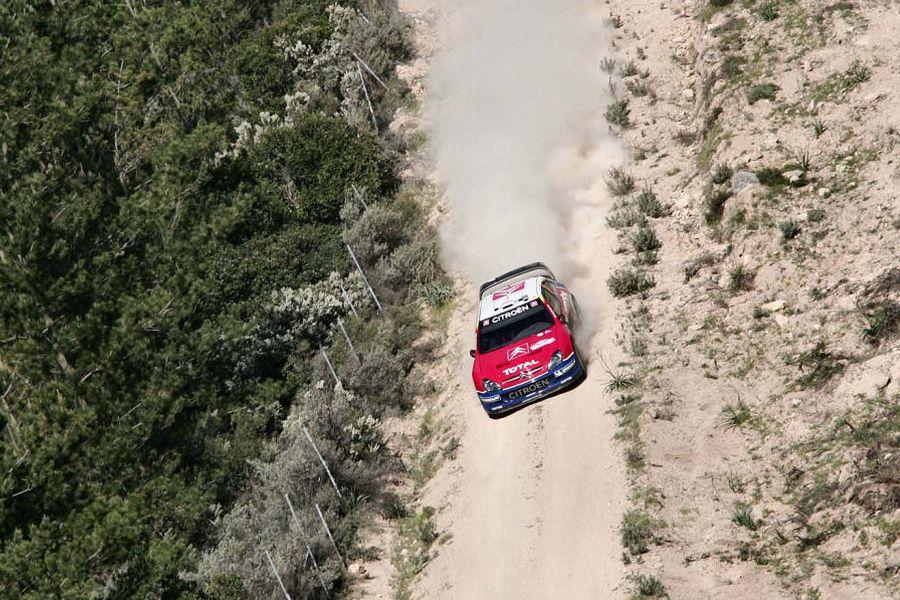 Sebastien Loeb's CitroenXsara at 2005 Rally Italia Sardegna