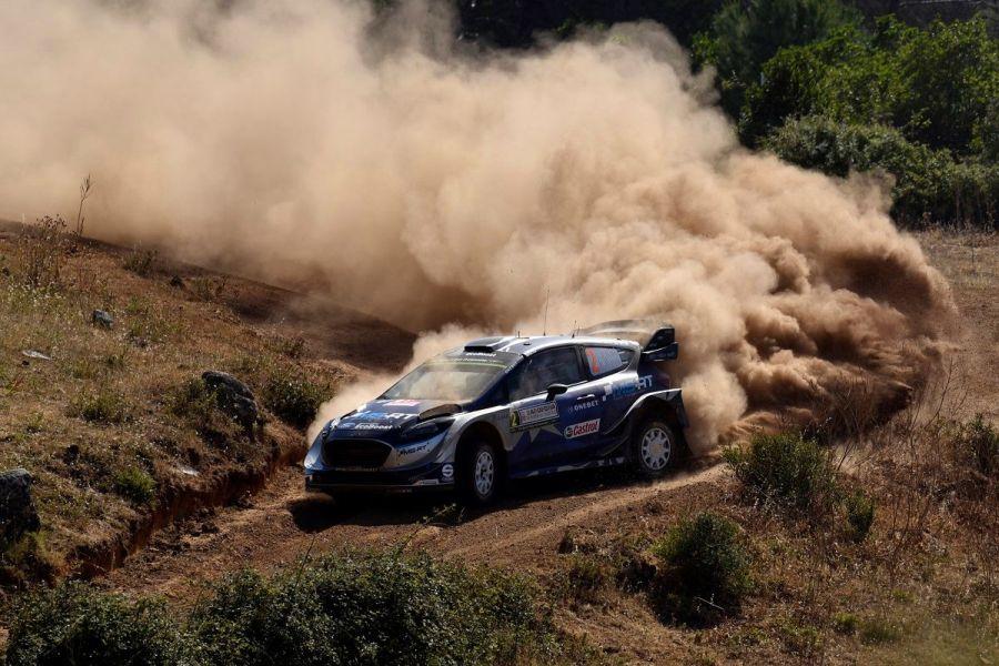 Ott Tanak at 2017 Rally Italia Sardegna