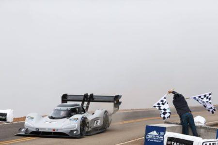 2018 Pikes Peak International Hill Climb, Romain Dumas, Volkswagen I.D. R Pikes Peak electric car