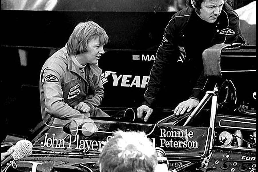 Ronnie Peterson at Anderstorp in 1974