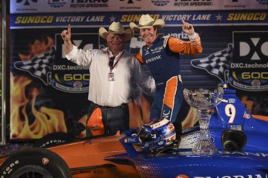 Scott Dixon with team owner Chip Ganassi