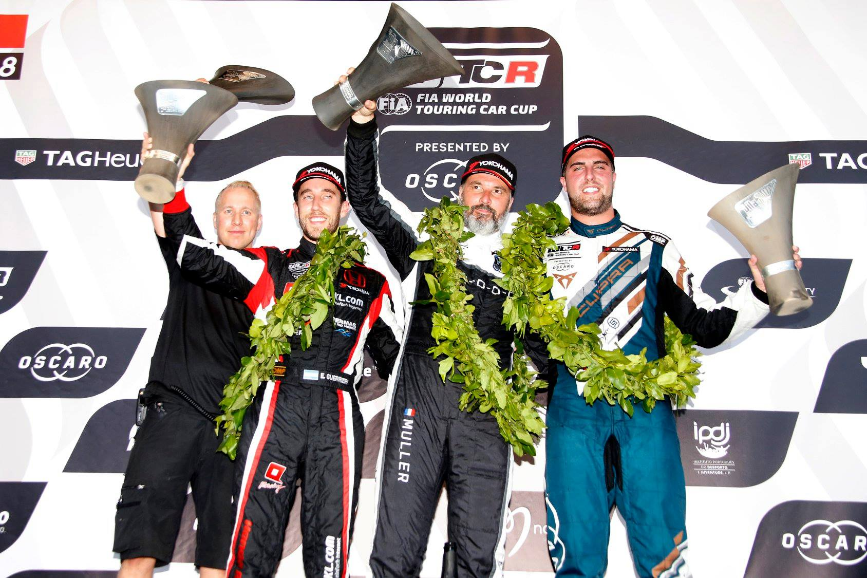 WTCR Vila Real race 1 podium