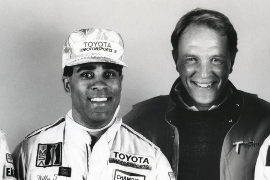 Willy T. Ribbs and Dan Gurney
