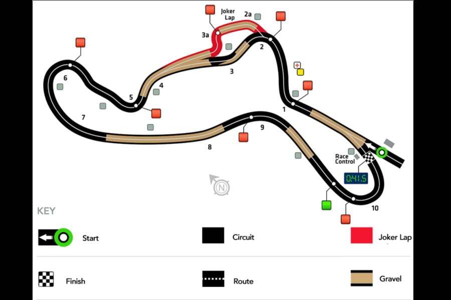 Holjes rallycross circuit layout/map