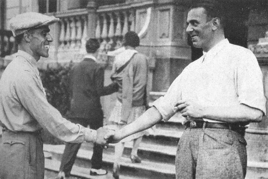 Tazio Nuvolari and Achille Varzi pictured in 1930