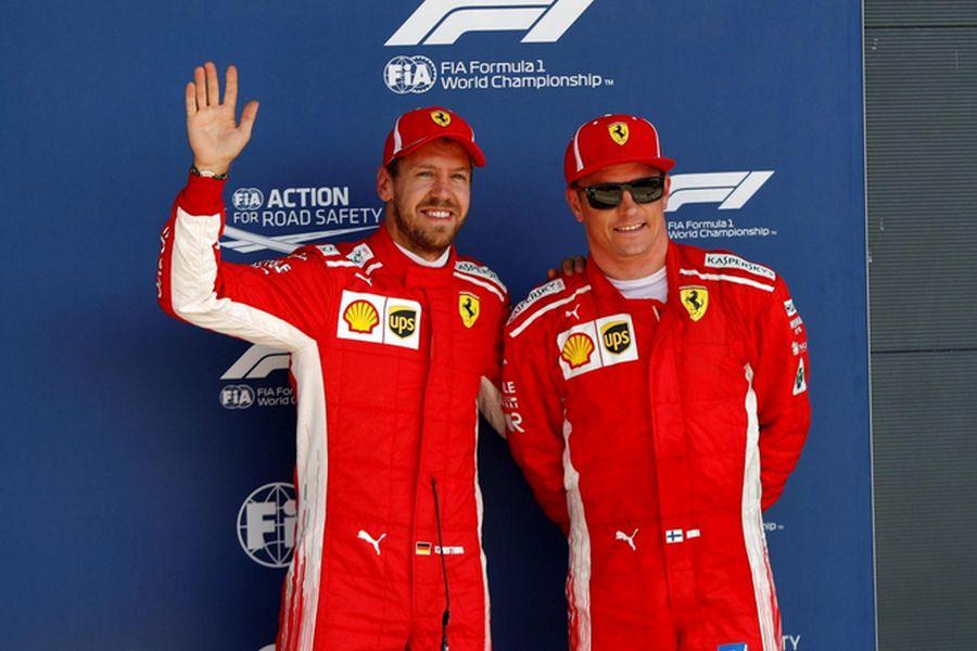 F1 British Grand Prix Vettel Raikkonen