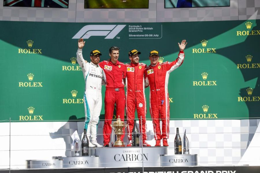 F1 British Grand prix podium