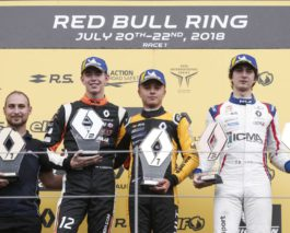 Formula Renault at Red Bull Ring: Wins for R-ace GP's Fewtrell, Martins