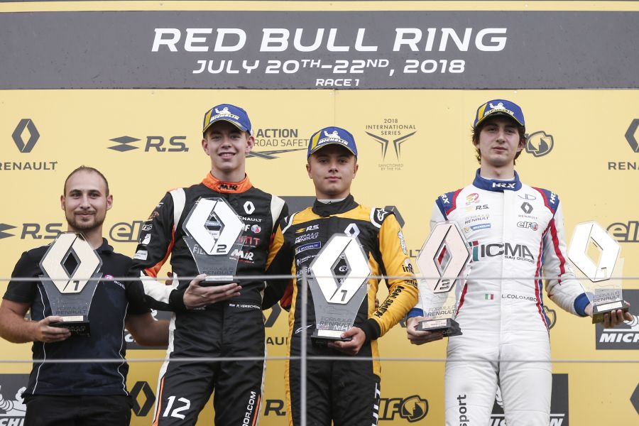 Formula Renault Eurocup, Red Bull Ring, race 1 podium