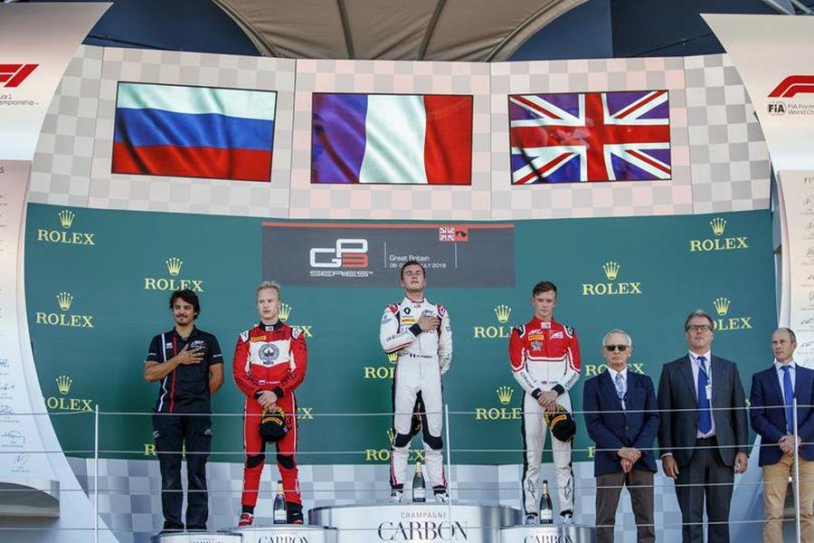 GP3 Series Silverstone race 1 podium