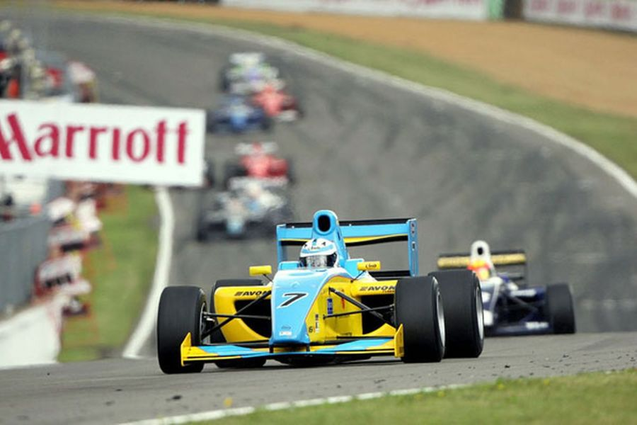 Henry Surtees was driving the #7 Williams JPH1 Formula 2 car in 2009