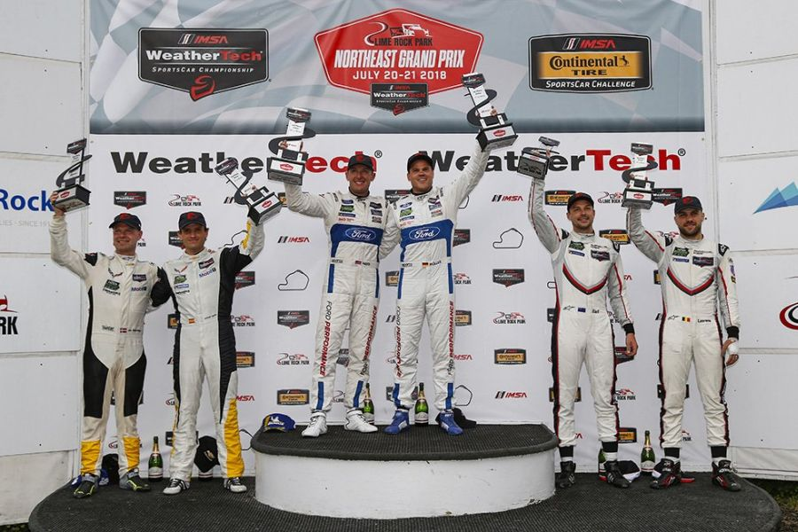 IMSA, Northeast Grand Prix, Lime Rock Park, GTLM podium