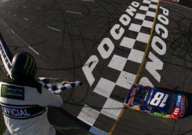 Kyle Busch wins at Pocono Raceway