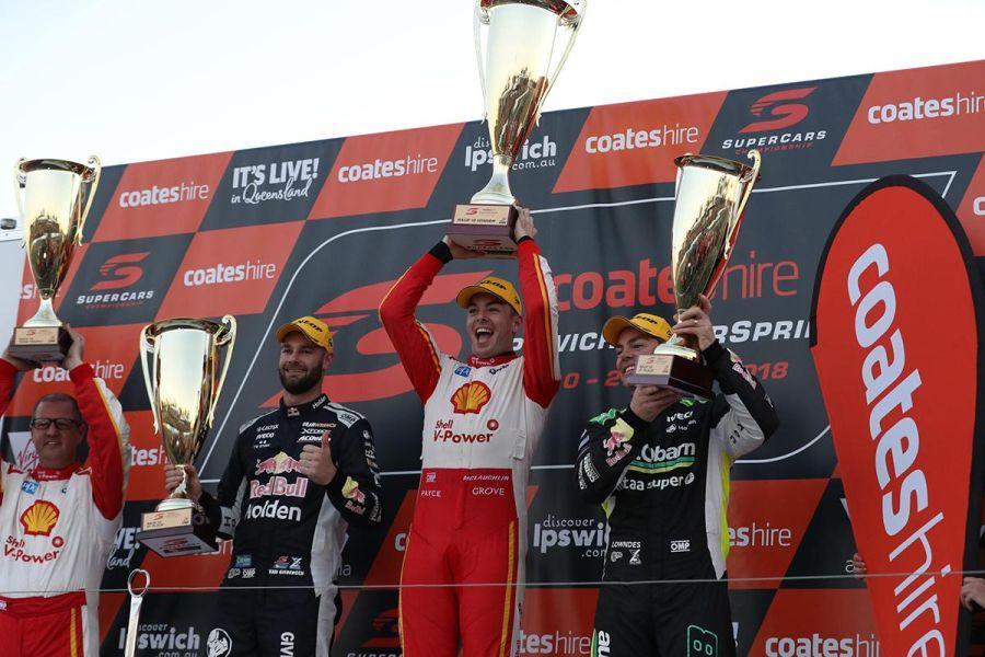 Ipswich SuperSprint Race 1 podium