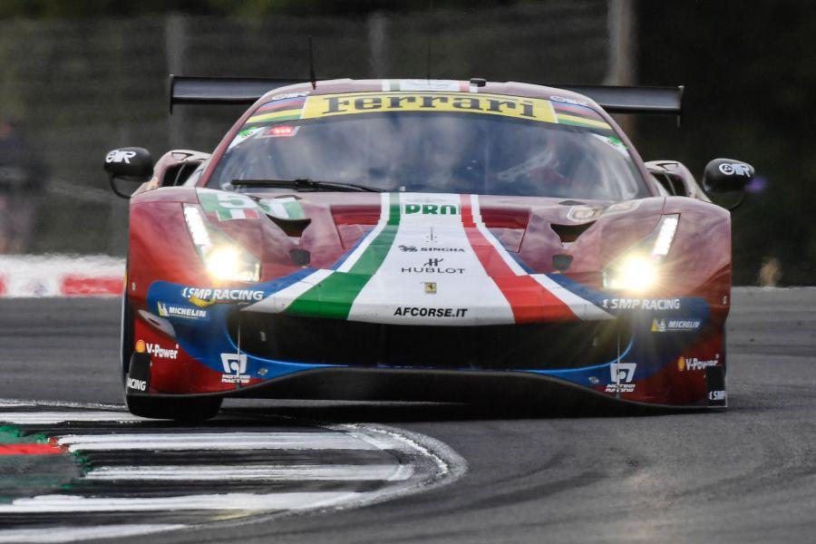 The #51 Ferrari of Alessandro Pier Guidi and James Calado