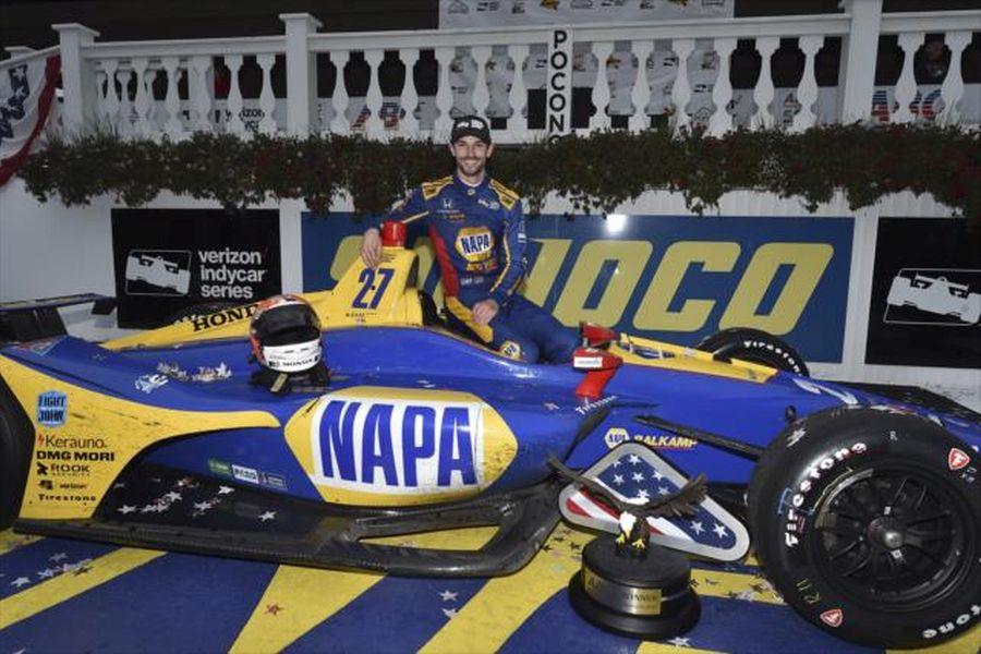 Alexander Rossi wins at Pocono