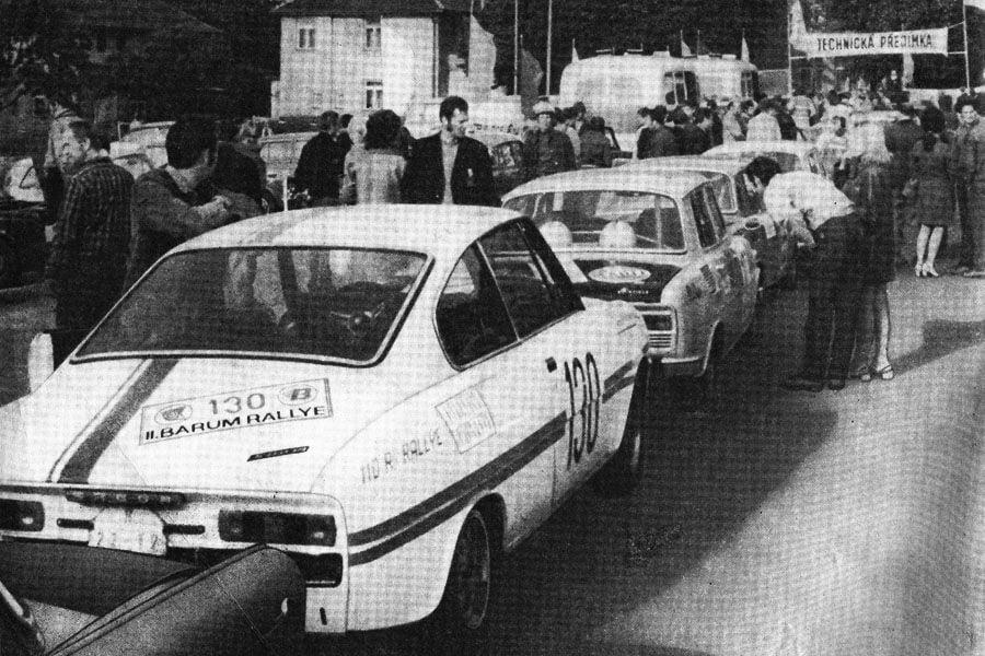 Barum Rallye 1972, black and white
