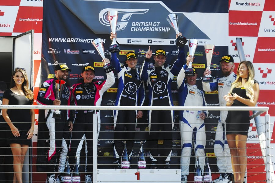 British GT Championship, Brands Hatch podium
